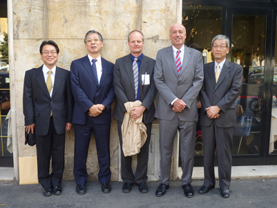 The Japanese delegation and others